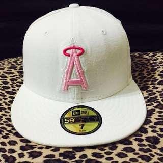 [NEW ERA] 全新粉色logo天使隊全封白帽