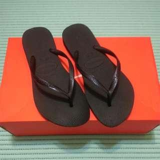 哈瓦士havaianas全黑拖鞋