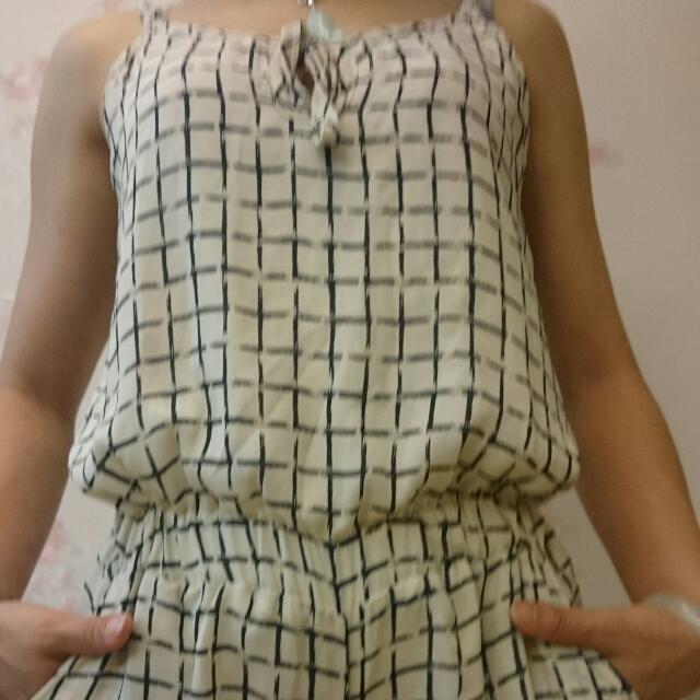 連身吊帶短褲(涼爽雪紡紗)