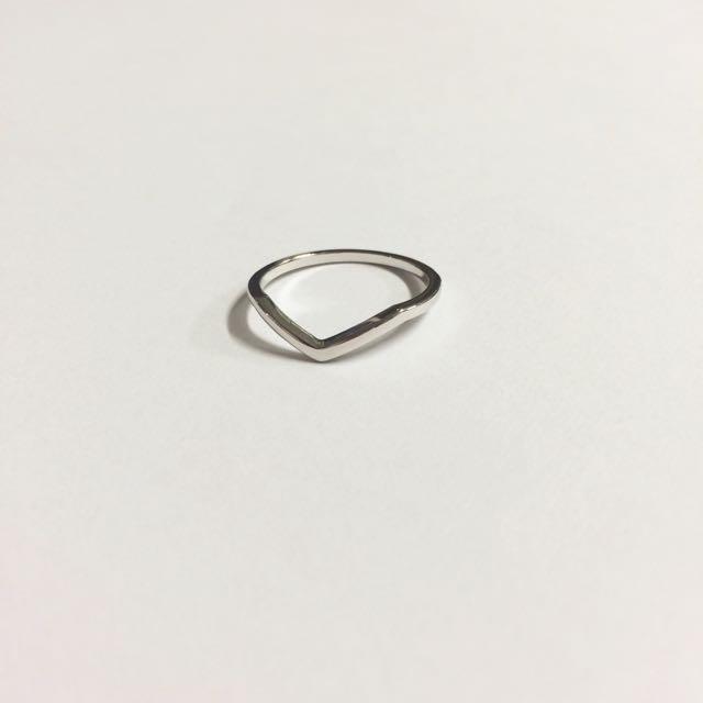 韓國簡約風銀戒指