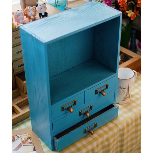C0330 BRAND NEW SHABBY CHIC VINTAGE HOME DECOR PAJANGAN DEKORASI RUMAH Home Decor Wooden Drawer Storage Box - Laci Penyimpanan Kayu