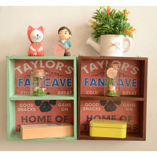 C1031 BRAND NEW SHABBY CHIC VINTAGE HOME DECOR PAJANGAN DEKORASI RUMAH Wooden storage box / brown or green - Laci Penyimpanan Kayu