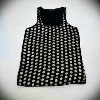 TOPSHOP Polka Dot Top