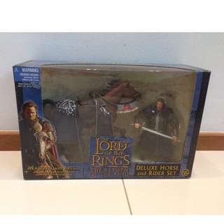 LOTR Lord of The Rings Deluxe Horse & Rider Set Aragorn & Brego Mint in Sealed Box. What you see is what you get.