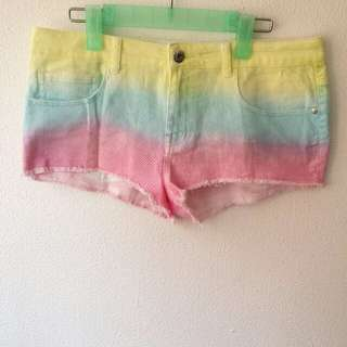 [REDUCED TO CLEAR] BN Uk 8 - 10 SUPRE Rainbow Paddlepop Denim Shorts