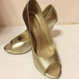 BESO 露趾 魚口高跟鞋 香檳金 結婚 拍照 禮服