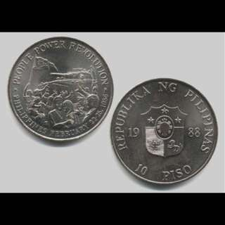 3 pcs for $10 - Phils Comm 10 Peso Coin