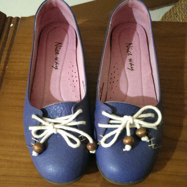 藍紫色休閒娃娃鞋❤