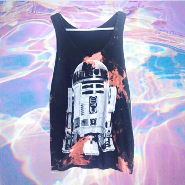 🔹🈹💗星際大戰機器人R2-D2無袖背心👽