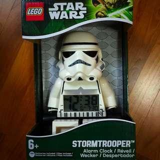 Lego Star Wars Stormtrooper Mini figure Clock