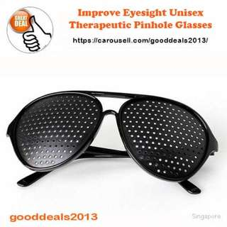 Improve Eyesight Therapeutic Unisex Pinhole Glasses / Spectacles for Vision Care (Suitable for Adults & Children)