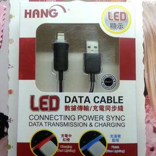 (全新)LED燈iPhone 5充電線/數據傳輸