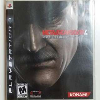 PS3 Metal Gear Solid 4 For Sale