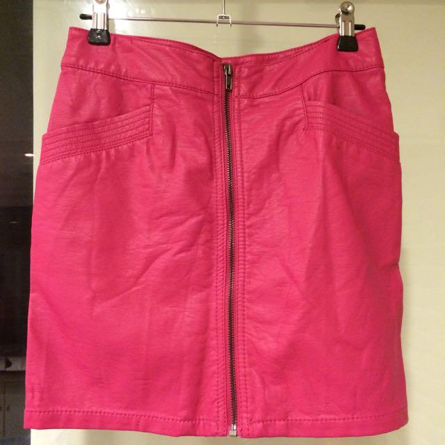 H&M歐美時尚皮質窄裙