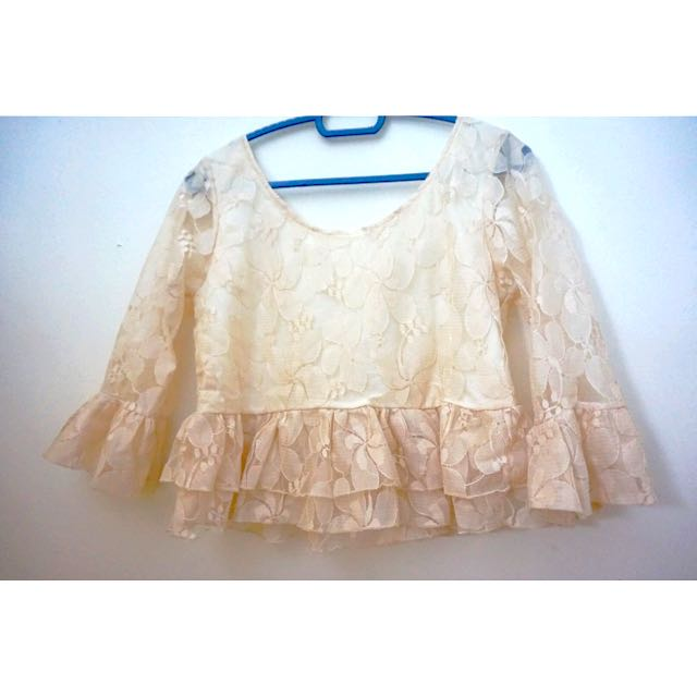 Pre 💖 Nineteen89 Boutique  Lace Crop