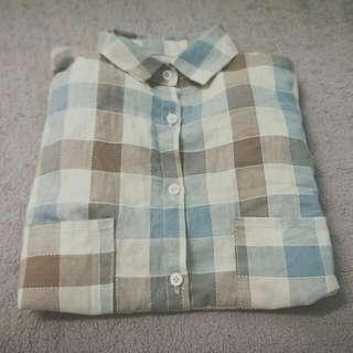 長版格子襯衫⛅