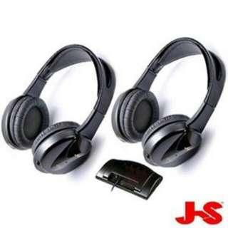 J-S  HAW001BB  紅外線Hi-Fi無線雙耳機組