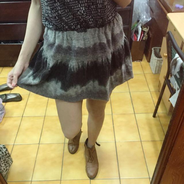民族風漸層毛短裙