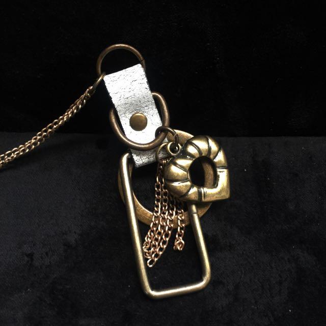 手製純銅 心幾何項鍊