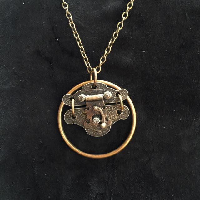 手製純銅  古鎖項鍊