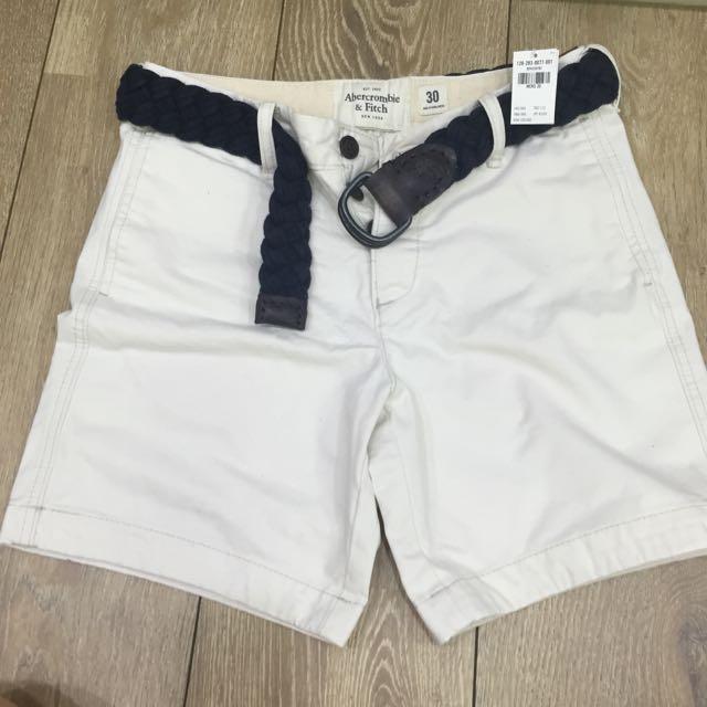 (全新)Abercrombie&Fitch 男版膝上短褲 30腰