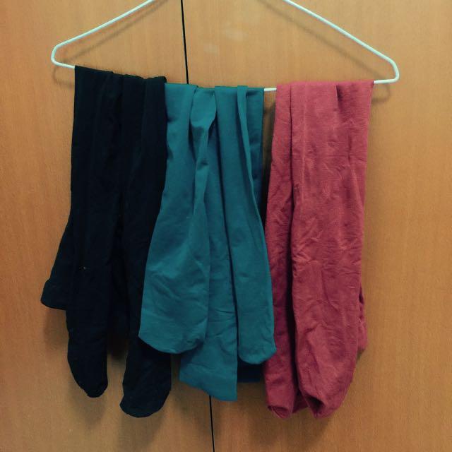 *全新轉賣*Queen Shop 暗紅 藍綠色 黑色 絲襪