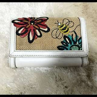 COACH Bumble Bee Floral Motif Limited Edition Trifold Wallet