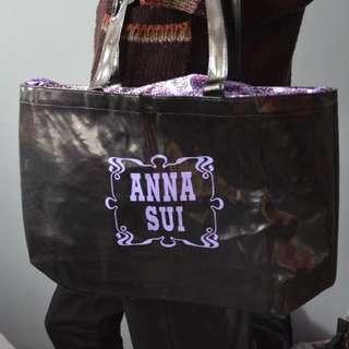 Anna Sui優雅紫大方袋 手提袋 環保袋