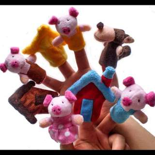 Brand New 3 Little Pigs Finger Puppets