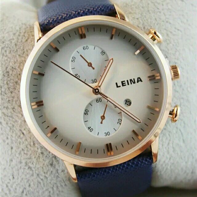 香港時尚帶日曆手錶