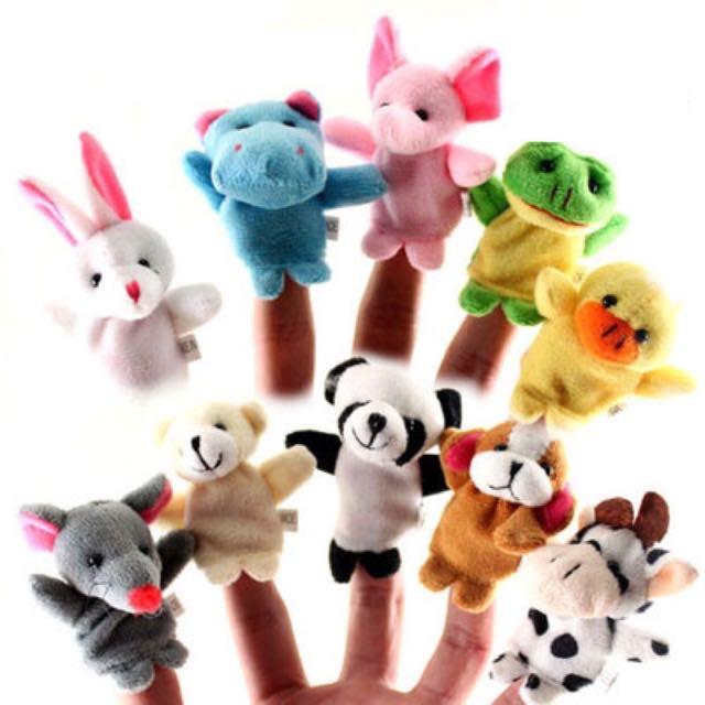 BN 10pcs Animal Finger Puppets