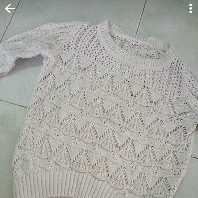 f1620101f Factorie White Knit Pullover