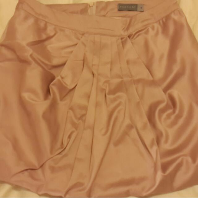 Forecast Satin Pink Skirt