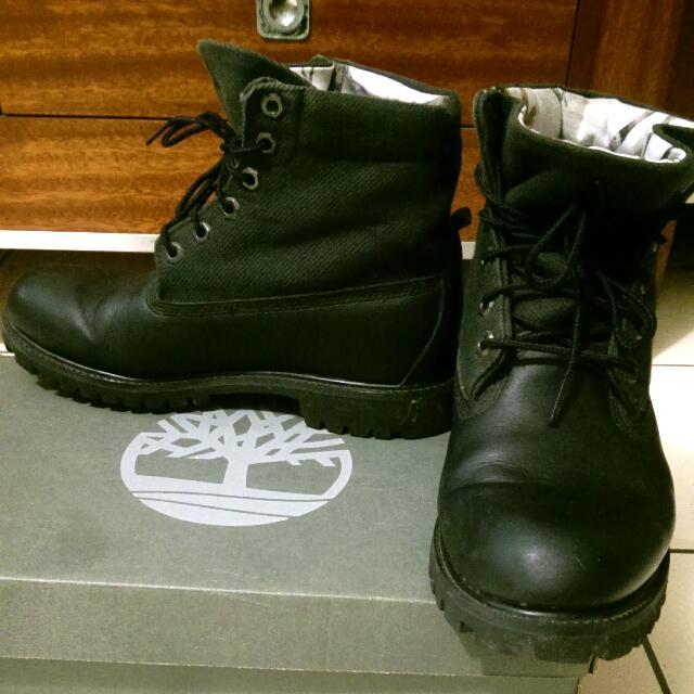 (待匯款)Timberland 男靴 黑色反折靴 可兩穿 8號