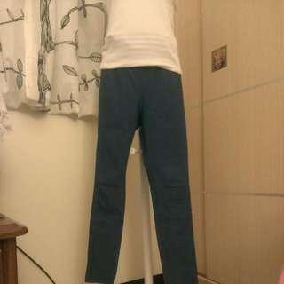 超顯瘦⭐藍色⭐彈性褲