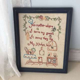 Distressed Country Style Embroidery / Frame