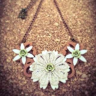 Handmade Little Bib Chain Necklace