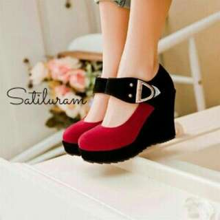 Two Colours Platform Wedges
