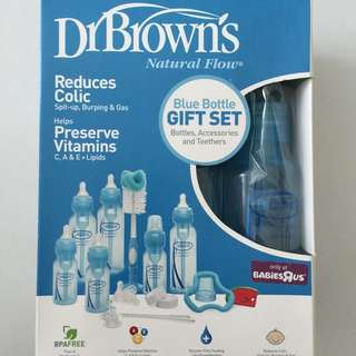 Dr Browns Milk Bottle Set (Blue Set)