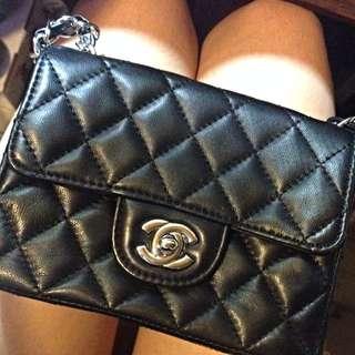 新年降價↘️↘️免運香奈兒 Chanel 經典款 Mini 17 CM 小羊皮 真皮 真品品質 必敗款 銀釦 銀鍊