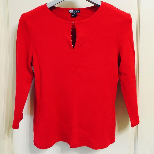 二手紅色丅恤