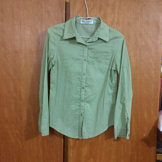 二手-淺綠襯衫/外套