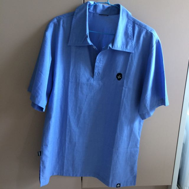⑤⓪ 黑人頭淺藍襯衫MAN