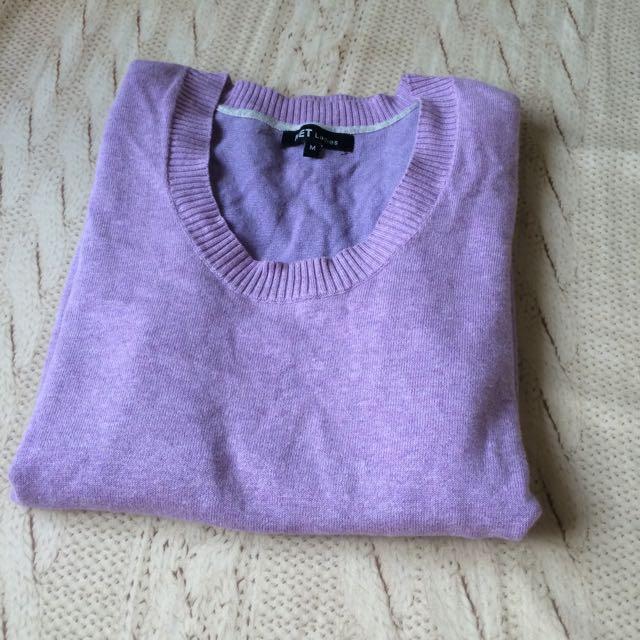 NET淡紫色針織