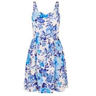 [PENDING] Newlook Textured Blue Blossom Dress