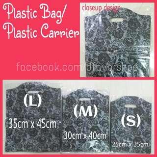 Plastic Bag / Carrier (Black Lace)