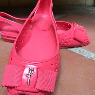 Authentic Salvatore Feragamo Jelly Shoe