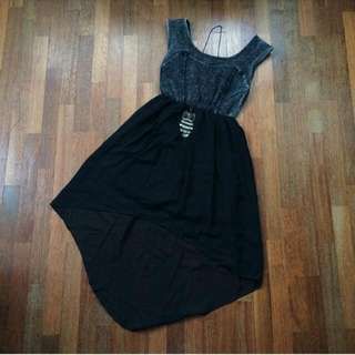 [BN] Denim Hi-Low Dress