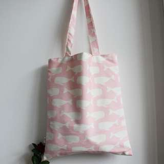 INSTOCK! Pink Swimming Whales Tote Bag