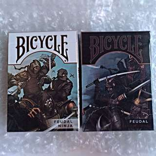 Feudal- Ninja And Samurai USPCC Bicycle Playing Cards